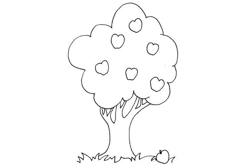 coloring page of apple orchard gallery